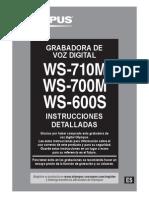 WS-710M WS-700M WS-600S Instrucciones Detalladas ES