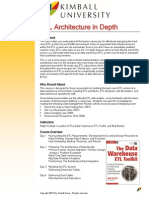 Kimball University ETL Architecture in Depth Course Description