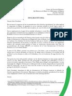 Declaración Oral en la 2da Evaluación de México en el Mecanismo de Examen Periódico Universal ante el Consejo de Derechos Humanos