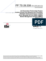 ETSI TS 29.338 - V 11.0.0. Diamtere Based Protocols to Support SMS