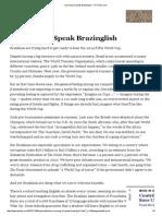 Learning to Speak Brazinglish - NYTimes