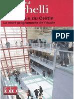 La Fabrique Du Cretin Brighelli Jean Paul