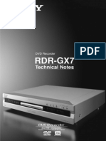SONY RDR-GX7 Technical Notes
