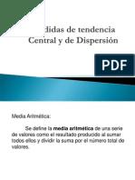 Medidas de tendencia central y dispersión