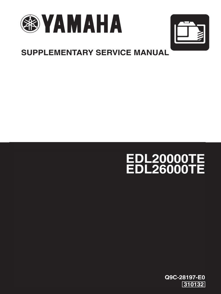 Gpu Yamaha Edl20000teedl26000te Q9c 28197 E0 Diesel Engine Hour Meter Wiring Diagram Motor Oil
