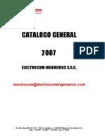 CATÁLOGO COMPLETO ELECTROCOM 2007