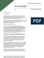 My e-mails w/ChiTrib reporter Lisa Black, editor Peter Hernon, reader-rep Jenna Lasich