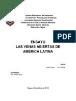 Ensayo Las Venas Abiertas de America Latina