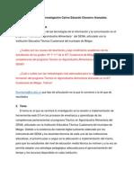 PROPUESTA DE INVESTIGACIÓN CARLOS EDUARDO CHAVARRO ARANZALEZ
