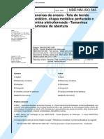 NBR 10703 - 1997 - Peneiras de Ensaio - Aberturas