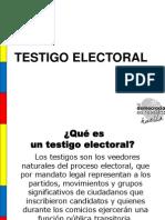 Presentación testigo electorales