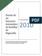 Diseño de un Extractor Automático de Semillas de Higuerilla