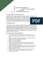 Community Justice Development Coordinator Job Opportunity
