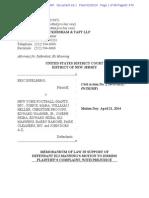Eli Manning's motion to dismiss lawsuit