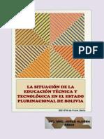 La situación de la educación técnica y tecnológica en el Estado Plurinacional de Bolivia