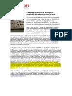 Ferrari consultoria em Gestão de Ativos - Inventário Patrimonial - Inaugura Unidade de Negocio em Curitiba - 20140320