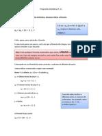 Progressão Aritmética (P. A.)