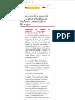 Instrumentos de apoyo de la Cooperación Española a la educación universitaria en Nicaragua « AECID Nicaragua