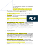 Pharm Study Guide 1 Fall 08
