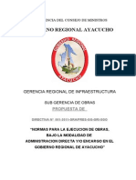 Directiva de Obras g.r.a.