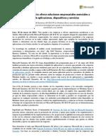 140320 Microsoft Dynamics Ofrece Soluciones Empresariales Esenciales