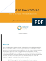 THE RISE OF ANALYTICS 3.0