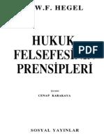 Hegel Hukuk Felsefesinin İlkeleri