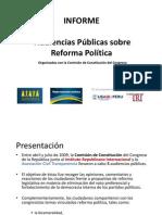 Audiencias Públicas sobre Reforma Política
