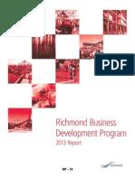 Richmond Business Development Report 2013