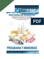 Xiv Memorias Congreso Inocuidad de Alimentos 2012