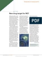 New Drug Target for MS
