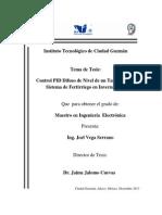 Control PID Difuso de Nivel de un Tanque