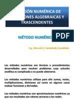 6. Solución Numérica de ecuaciones algebraicas y trascendentes