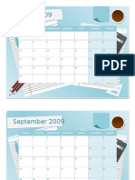 2009-2010 Calendar Template (Word)