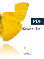 School Project/Report Template - Butterfly Design (Word)