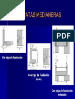 Zapatas Medianeras