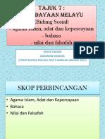 Tajuk 7 = Kebudayaan Melayu Bidang Sosial