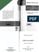 Foucault Michel Quc3a9 Es Un Autor Apostillas Por Daniel Link