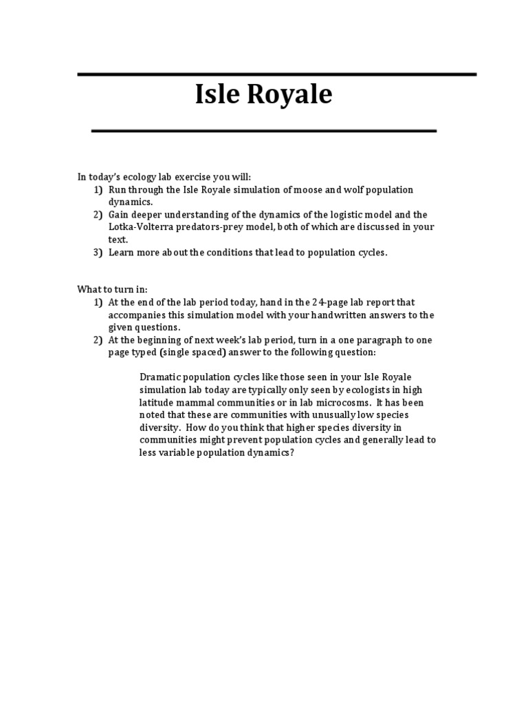 isle royale student s t test mean