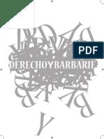 48271278 Revista Derecho y Barbarie Derecho y Barbarie 1 (1)
