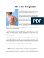 10 Posibles Causas de La Gastritis.