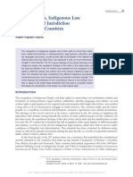 Legal Pluralism, Indigenous Law and the Special Jurisdiction in the Andean Countries