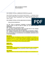 DP3 Crimes Contra a Liberdade Indiv (II)