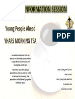 YHARS Morning Tea Information Session