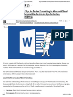 "Preview of ""Beyond the Basics- Six Tips for Better Formatting in Microsoft Word"""