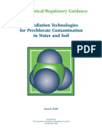 Remediation Technologies for Perchlorate in Water and Soil