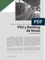 Formacion de Tutores Julio - 3 - PSU y Ranking de Notas