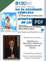 Apontamentos de leitura_Lorenzetti_TEORIA DA DECISÃO JUDICIAL