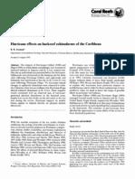 Aroson 1992. Efectos de Huracanes en Equimpdermos Del Caribe