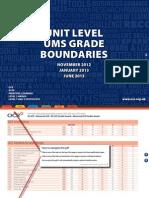 126279 Unit Level Ums Grade Boundaries November 2012 January and June 2013